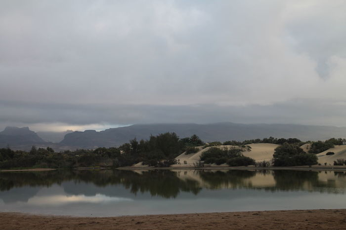 Beauty In Nature Calm Cloud Cloud - Sky Cloudy Gran Canaria Idyllic Lake Mountain Mountain Range Nature Reflection River Scenics Sky Standing Water The KIOMI Collection Tranquil Scene Tranquility Tree Water Waterfront