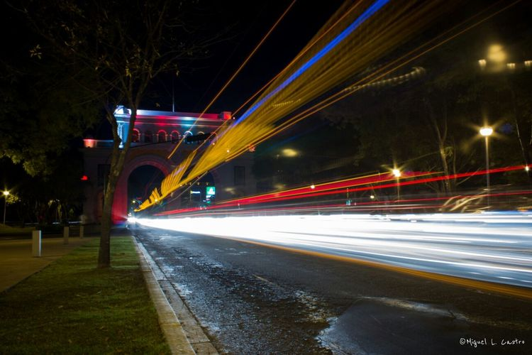 Luces de Guadalajara. Guadalajara Lights Long Exposure Street Mobility In Mega Cities