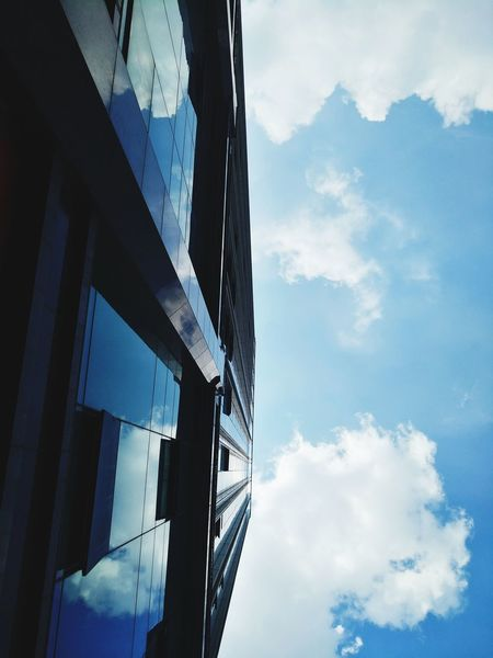 cloud City Blue Business Finance And Industry Sky Architecture Cloud - Sky Building Exterior