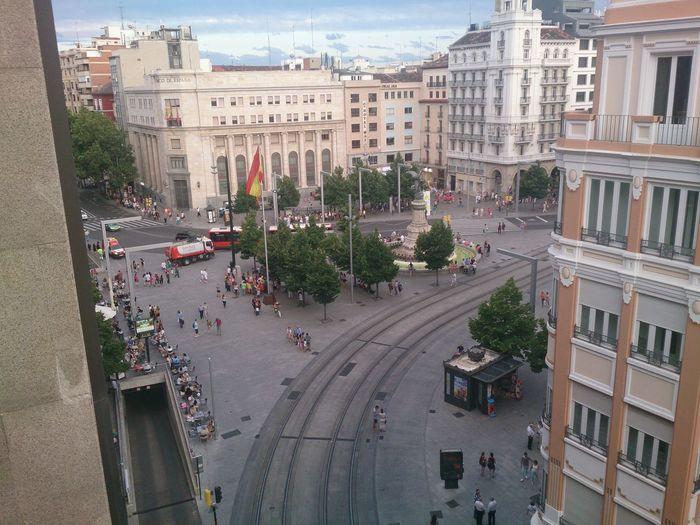 La Plaza De España en Zaragoza