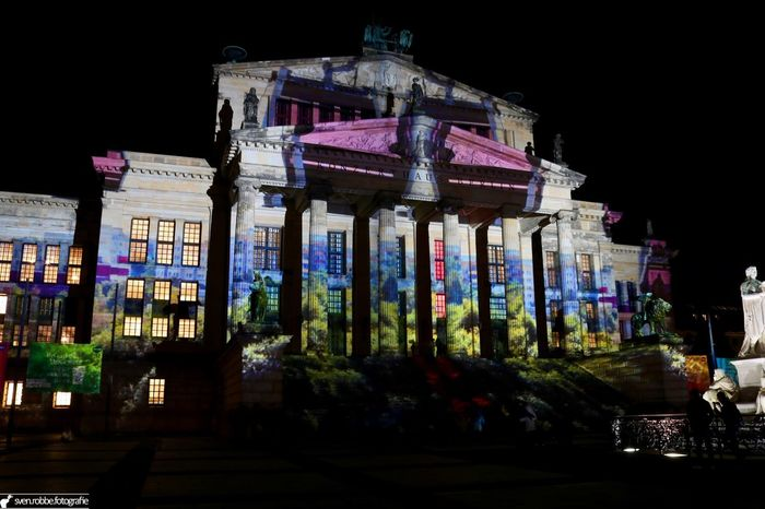 Architectural Feature Architecture Berlin City Life Colored Festival Of Lights History Konzerthaus Berlin Night Outdoors