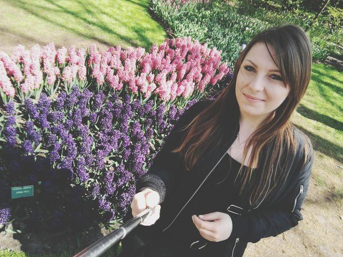 Selfie ✌ Photo Myhobby Mylife Myworld Myandyou Keukenhof Flowers Sunyday Freeday