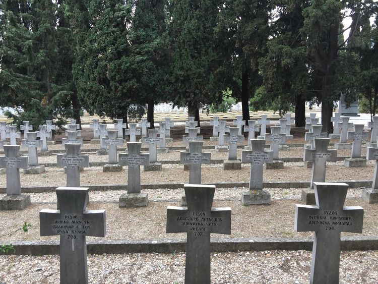 WWI Memorial cemetery of Serbian soldiers. (5) Greece Photos Thessaloniki Cemetery Memorial Tombstone Graveyard Gravestone Sadness Tree Grave Memorial Cemetery Place Of Worship Built Structure History Spirituality Outdoors