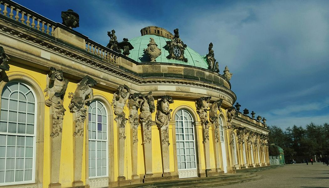 Sans Souci Castle Potsdam Schloss Schlosspark Sunlight Architecture