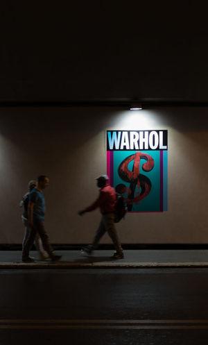 Nightphotography Crop  Lights And Shadows Night People Real People Spotlight Warhol
