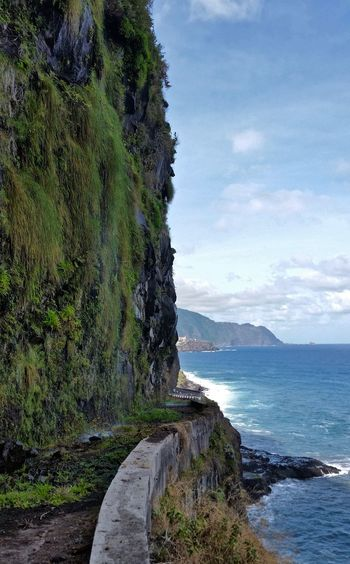 Coastline Funchal Green Color Madeira Portugal Beauty In Nature Cliff Green Cliff Horizon Over Water Landscape Moss Mountain No People Scenics Sea Front Seixal Sky Tranquil Scene Tranquility