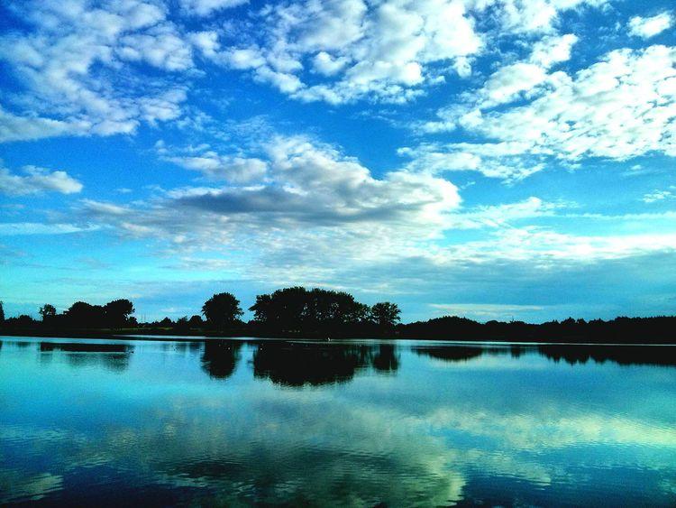 :)) Blue Sky Blue Lake Nature Mobilephotography PhonePhotography Stankow Biketrip Sky Sunnyday Great Day 😀😀👌👌