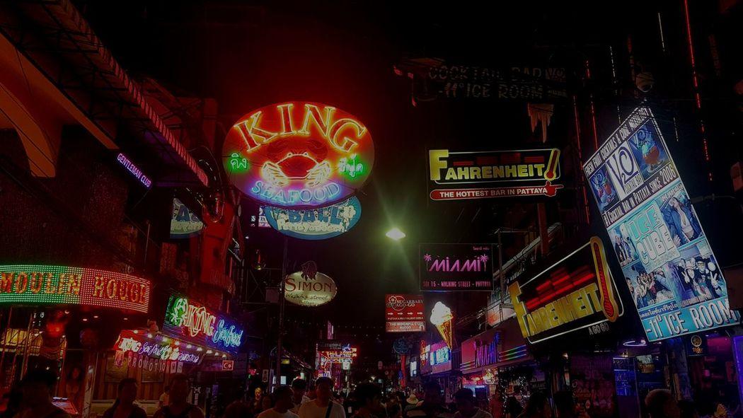Night Nightlife Nightclub Pattaya Thailand Walkingstreet