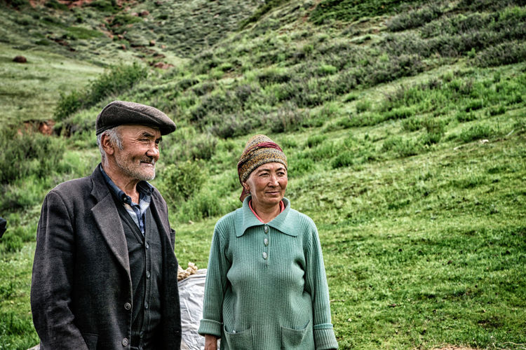 Two People Males  Men Adult Togetherness Smiling Happiness Waist Up Emotion People Nature Day Bonding Plant Hat Cap Lifestyles Mature Adult Clothing Real People Mature Men Positive Emotion Outdoors Contemplation Couple - Relationship