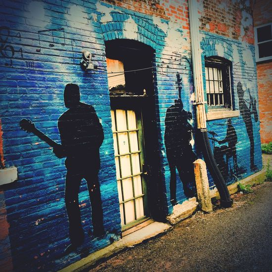 OldTown Blues Session Wall Art Colorful Architecture Full Length Lifestyles Graffiti City