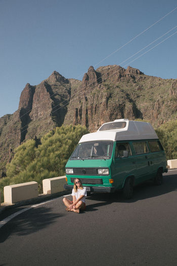 Tenerife Tenerife Island SPAIN VwT3 Vwbulli Camper Campervan Camping Vanlife Van Mountain Mountain Range Day Nature Sky Road Outdoors Sunlight Car Clear Sky Travel Travel Destinations Nature Nature_collection Nature Photography