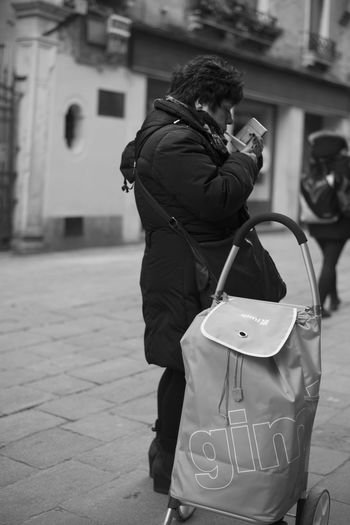 Black And White Cigarette  Day One Person One Woman Only People Rear View Rest Street Streetphotography Take A Break Venice