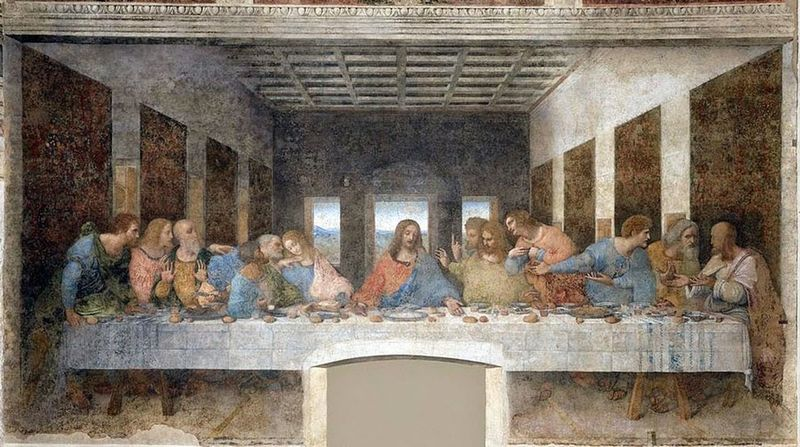 The Human Condition divinci portrait of the lord supper