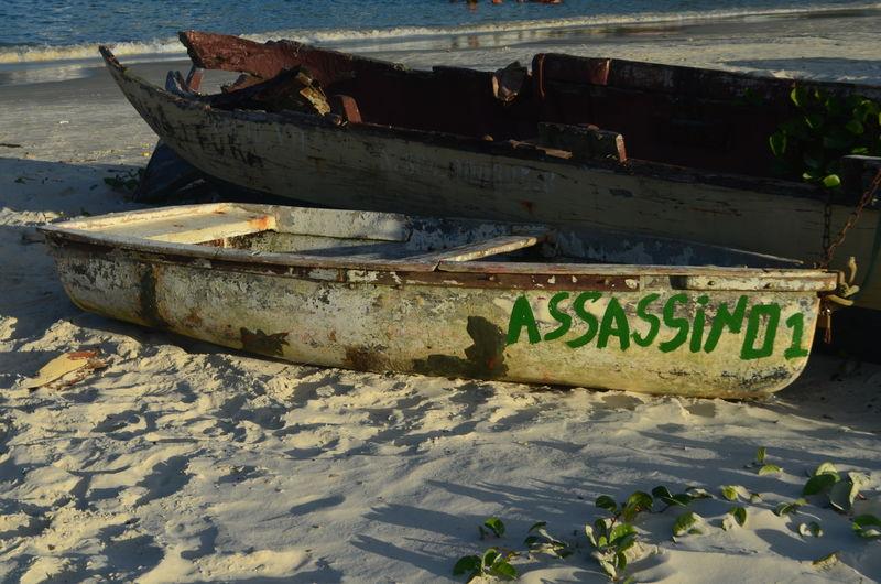 Past Assasin Beach Boat Historic Nature Sand Sea