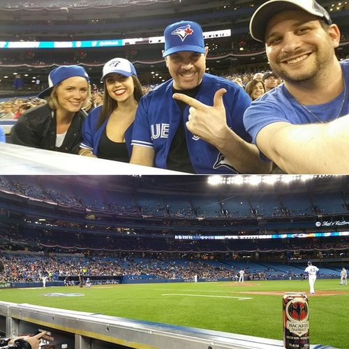 Huge thanks to @BacardiCanada for a night to Cometogether cheering the Bluejays with TruePassion alongside these gems in VIP seats on Wednesday