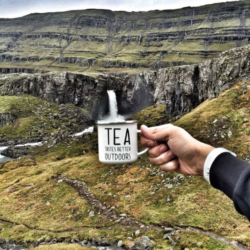 Communication Text Western Script Mountain Landscape Sign Physical Geography Non-urban Scene Tranquility Scenics Countryside Person Tranquil Scene Outdoors Holding Geology Valley Symbol Majestic Nature Travel Inspiration Traveling Tea Tea Time Adventure