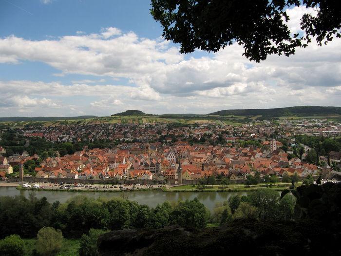 Germany Karlstadt Landscape River Sky Town
