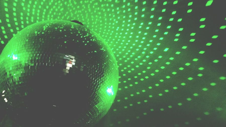 Green Greenballs Mirror