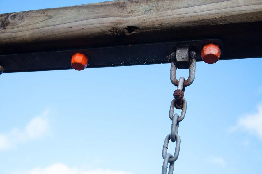 Playground swing chain Playground Equipment Playground Swing Chain Close-up Hanging Metal Playground Swing
