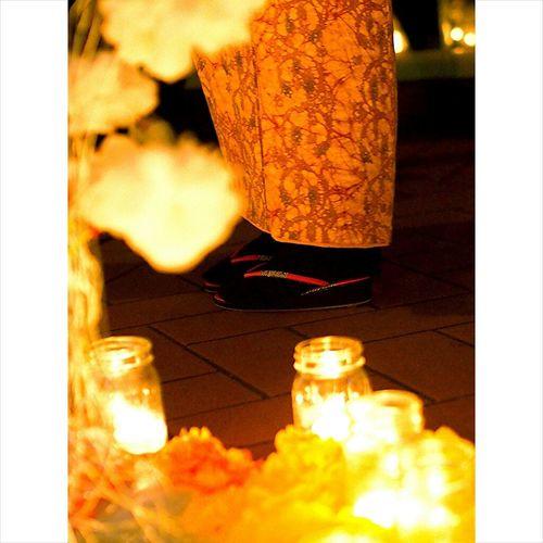 着物とキャンドル 着物 キャンドルナイトin大阪茶屋町 Candle By Candlelight