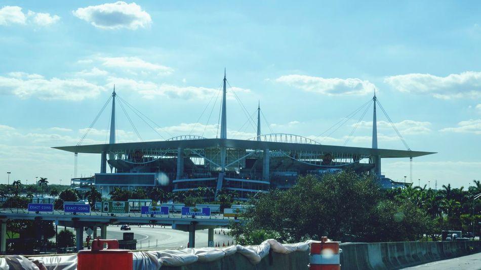 Stadium Built Structure Cloud - Sky Building Exterior Transportation Architecture Outdoors No People Passenger View Miami