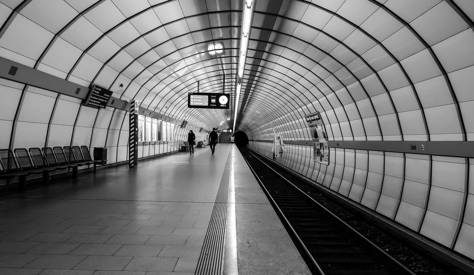 Architecture Architecture_collection Built Structure Day Indoors  Pipe Public Transportation Rail Transportation Railing Railroad Station Railroad Station Platform Real People Round Sky The Way Forward U-Bahnhof Underground Station