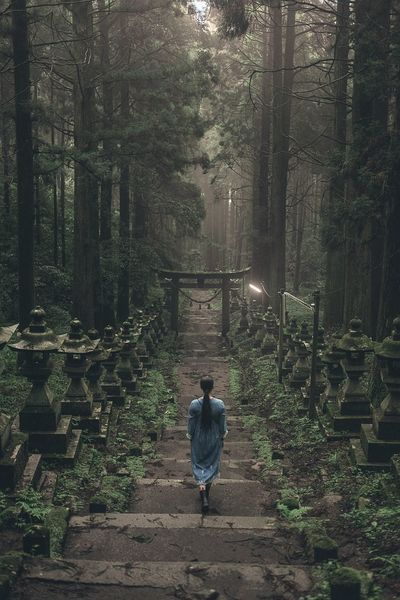 Nature Forest Beauty In Nature One Person Rear View Full Length Portrait Of A Woman Landscape Outdoors Fujifilm EyeEm Best Shots Japan The Great Outdoors - 2018 EyeEm Awards A New Perspective On Life