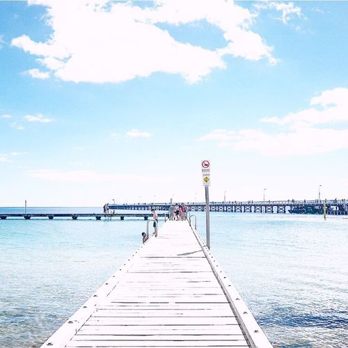 Summer Pier Water Built Structure Sea The Way Forward Architecture Sky Tranquil Scene Tranquility Day Scenics Blue Cloud Jetty Nature Vacations