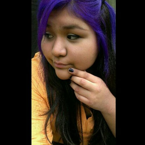Self Portrait Purple Hair Throwback #tb