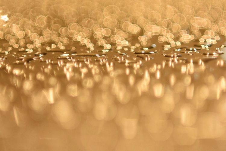 Water drops on a surface