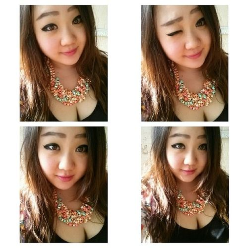 Party on my neck! ♥ Necklace Statementpiece Springtrends Springfashion fashion style ootd accessories selca korean koreangirl asian asiangirl 얼짱 셀카 한국인 uljjang ulzzang instamood instagood fotd selfie nofilter
