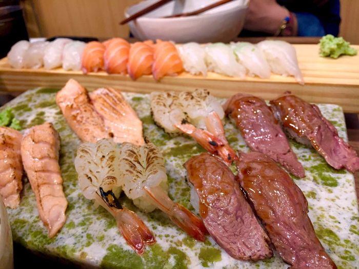 Taking Photos Enjoying A Meal Japanese  Food Sushi IPhoneography