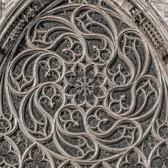 Details of a rose window on the Cathedral of Milan - Italy Architecture Cathedral Church Milano Italy Architettura Chiesa Duomo Di Milano Gothic Style Gotico Rose Window Rosone