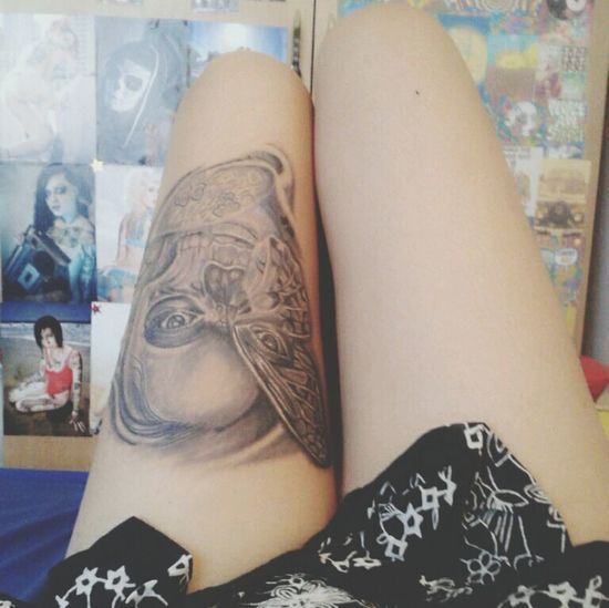 My Leg Tattoo Tattoo Legtattoo  Tattooedwomen Blackandgreytattoo
