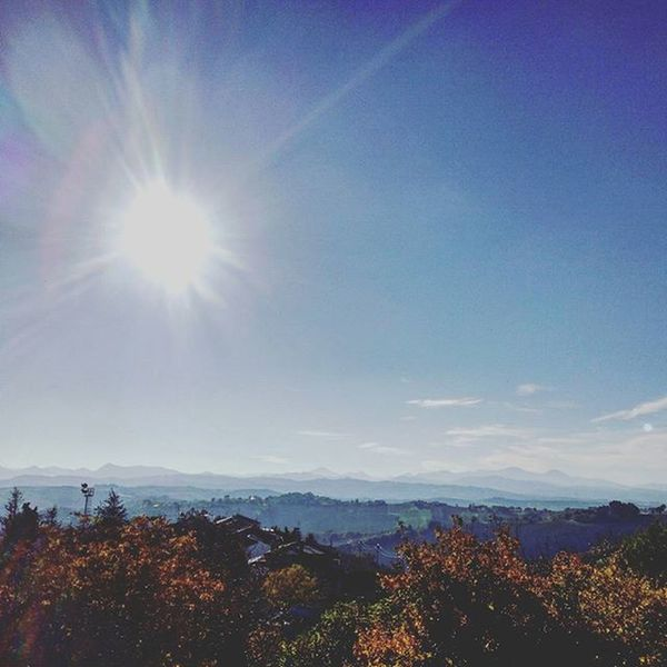 november sun . . Sun November Whitesun Sunshine Sunlight Bluesky Sky Skylovers Horizon Montain  Montainscape Landscape Trees Leaves Fall Fallcolors Autumn Nature NaturalBeauty Just_best_photo Fotografia Liveloveitaly Naturelovers Igersitalia Igersmarche igdaily igerseurope marche foto_naturel