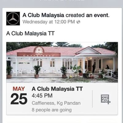 You're cordially invited to 5th TT of A-Class Owners Club Malaysia @aclubmalaysia to Caffieness, Kg. Pandan at 4.45PM on 25th May. We are welcoming new owners to join our club. See you guys there! Mercedes Mercedesbenz Aclass W176 A250 Sport engineered by AMG AclubMalaysia MBSHOOTOUT ClubAKlasse ig_mbenz