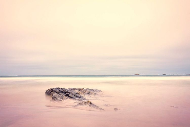 Tranquil beach Nature Sea Water Tranquil Scene Beach Horizon Over Water Scenics Beauty In Nature No People Long Exposure Canonphotography Canon5DMkIV Art Is Everywhere