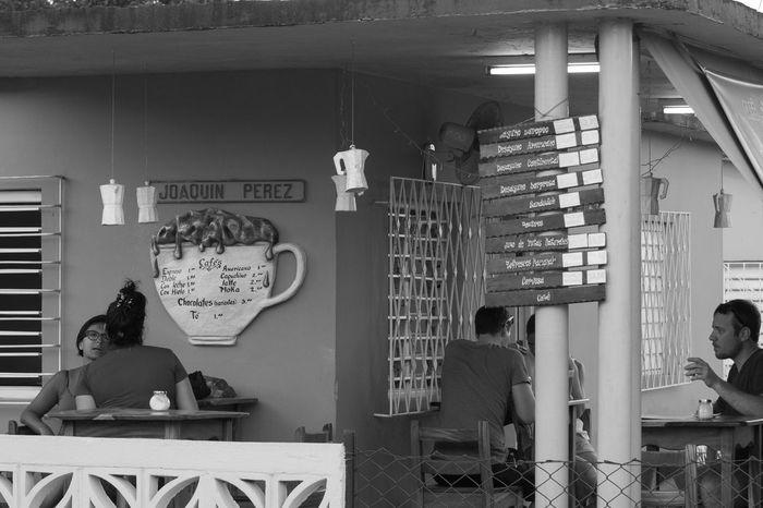 Bnw_friday_eyeemchallenge Cafe Lifestyles People Real People Bnw_coffee