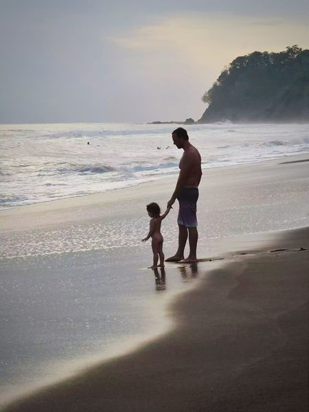 Modern Father Playahermosa JacoBeach Costa Rica Enjoying Life That's Me Father And Daughter Daughter Puravida Ticos Been There. Lost In The Landscape