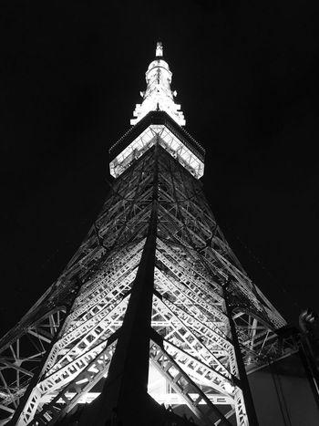 Tokyo Tokyo,Japan Tokyo Night Tokyo Tower Night BLCK&WHT Tower IPhoneography IPhone 6s