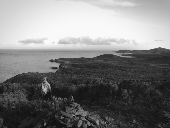 Cap Corse le sentier des douaniers Monochome Corse Cap Corse Sentier Des Douaniers Sea Beach Nature Horizon Over Water Cloud - Sky Outdoors Water Sky Day Beauty In Nature