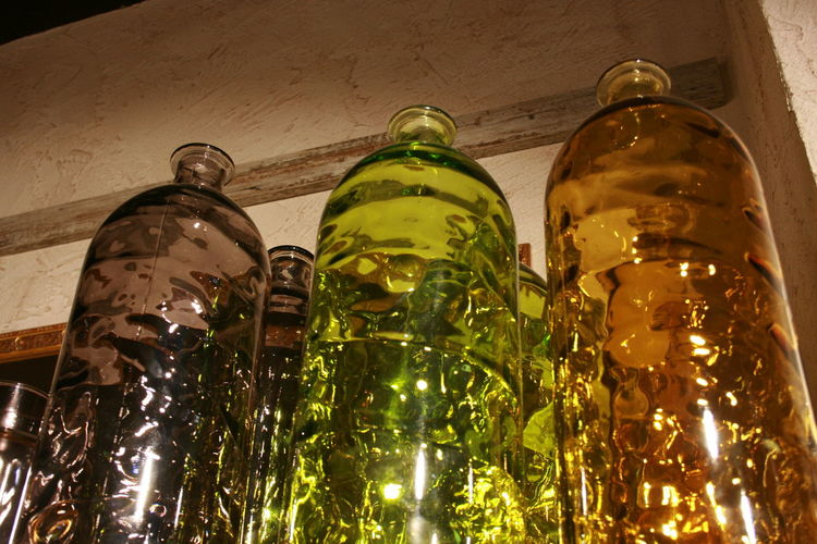 Bottle Coloured Glas Coloured Glass Bottles Empty Bottles Glass - Material House Decoration Indoors  No People