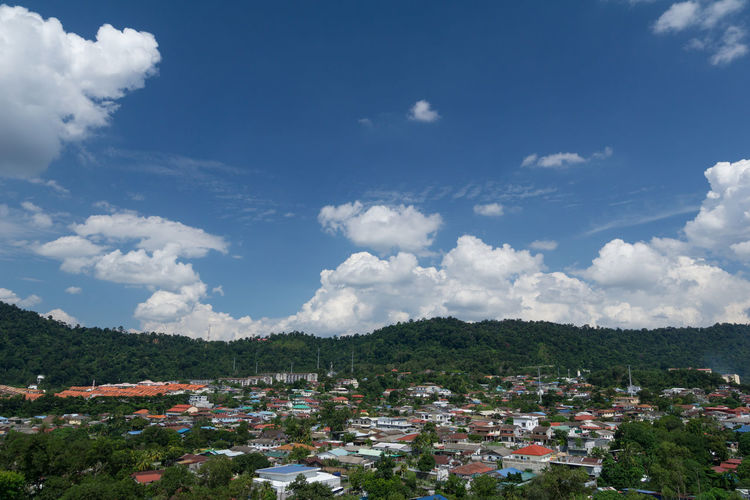 The view of dramatic cumulus clouds over Ampang hills at Ampang, Malaysia Ampang Construction Freedom Cumulus Cloud Developer Development Hillside Housing Settlement Progress Town