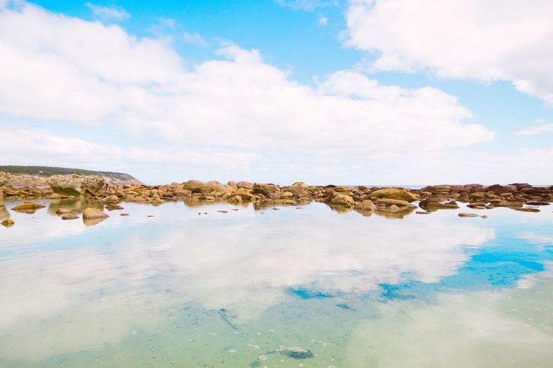 Reflect Sea Sea And Sky Seascape Beach Beachphotography Australia Kangaroo Island South Australia Water Reflections Reflection Landscape_Collection Tranquility The KIOMI Collection The Great Outdoors - 2016 EyeEm Awards