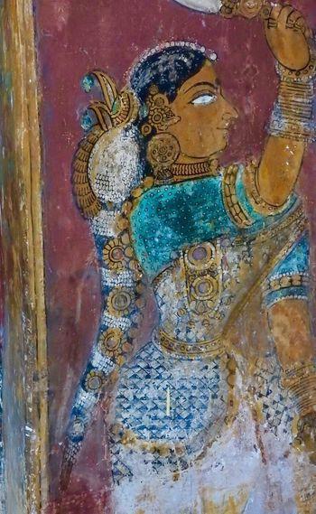 Mural on the wall of Ramalinga Vilasam, museum maintained by ASI. India Tamilnadu Rameswaram Ramanathapuram Ramnad Art Heritage Culture