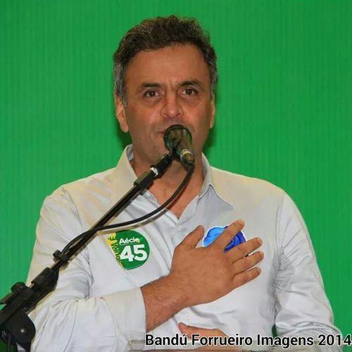 Fotografado o candidato a Presidência da República AÉCIO Neves ... Foto Fotografia retrato politica AécioNeves 45 MudarBrasil