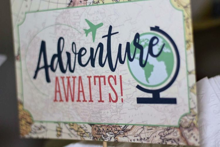 Adventure Awaits Adventure Awaits Adventure Graffiti Wall - Building Feature