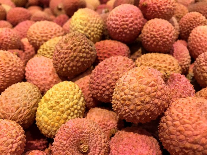 Pile of lichi Pile Lichi Fruit Abstract Tropical Texture China ASIA
