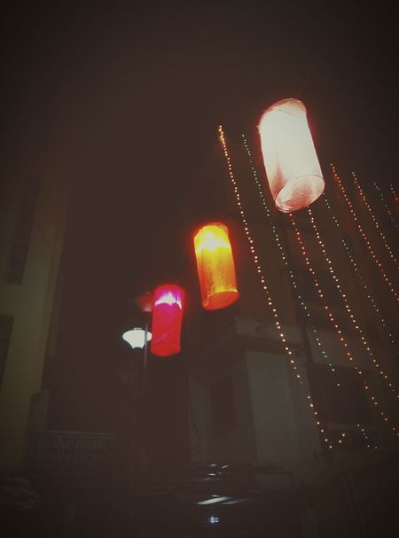 Illuminated Red Light Red Lighting Equipment Night Low Angle View No People Outdoors City Nightlife Neon Diwali Lights Decorations Art Is Everywhere