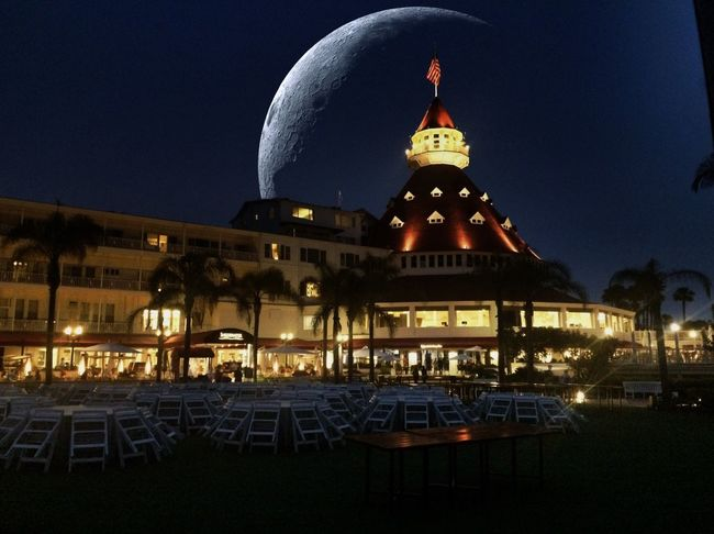 San Diego Hotel Del Coronado Hotel Coronado Beach Architecture Dome Building Exterior Built Structure Night Illuminated Travel Destinations Famous Place Tourism Spirituality Religion Travel Place Of Worship International Landmark Church Outdoors Capital Cities  City Life Dark Spire